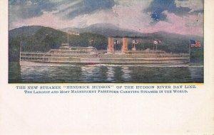 Steamer Hendrick Hudson of the Hudson River Day Line, Early Postcard, Unused
