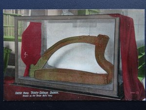 Ireland DUBLIN Trinity College CELTIC HARP Brian Boru Harp - Old Postcard