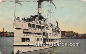 Boston Floating Hospital Boston, Massachusetts USA Ship Postcard Post Card Bo...