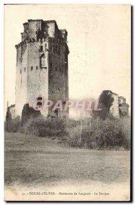 Old Postcard Tours Elven Fortress Largonet Le Donjon