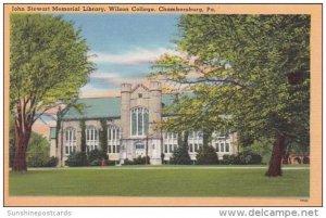 Pennsylvania Chambersburg John Stewart Memorial Library Wilson College