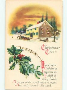 Divided-Back CHRISTMAS SCENE Great Postcard W9724