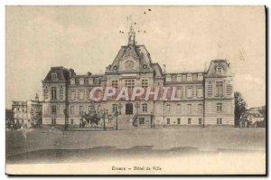 Old Postcard Evreux Hotel De Ville
