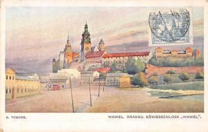 Krakau Poland Castle Antique Postcard J57753
