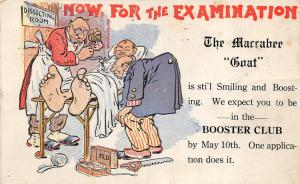 F21/ Warren Ohio Postcard 1917 Maccabee Goat Booster Club Comic