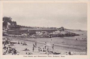 Massachusetts Rockport Front Beach &  Observatory Point Albertype