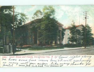 Pre-1907 JAIL AND COURT HOUSE Jersey City New Jersey NJ n6130