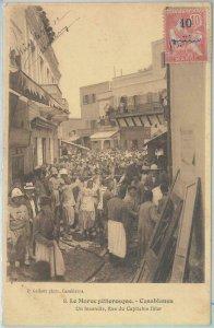 80205 -  French Maroc MOROCCO  - VINTAGE POSTCARD -   Casablanca  1912   FIRE!!