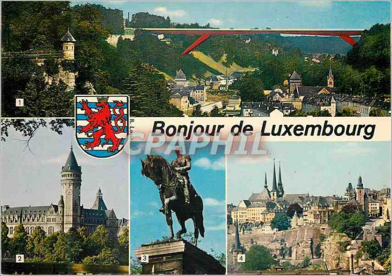 CPM Luxembourg Pont Grande Duchesse Charlotte