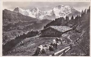 Switzerland AEiger Moench und Jungfra 1948 Photo