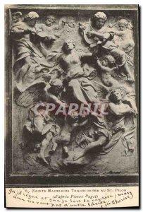 Postcard Old St. Madeleine transported to St Pilon