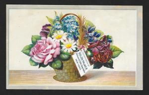 VICTORIAN TRADE CARD Palmer Perfume Flower Basket