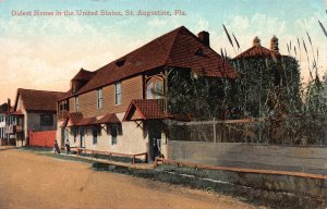 Oldest House in the United States, St. Augustine, FL, early postcard, unused