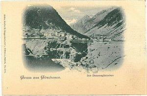 Ansichtskarten Schweiz VINTAGE POSTCARD: SWITZERLAND - GRUSS AUS: GOESCHENEN