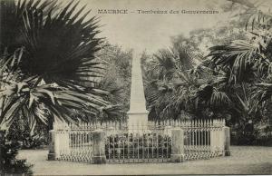 mauritius maurice, PAMPLEMOUSSES, Tombeaux des Gouverneurs (1899)