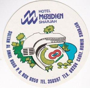 Sharjah Hotel Meridien Vintage Luggage Label lbl0761