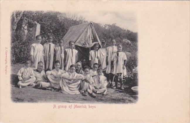 Morocco Tanger A Group Of Moorish Boys