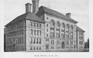 YORK PENNSYLVANIA~WILLIAM PENN HIGH SCHOOL-J G McCROREY PUBLISHED POSTCARD 1910s