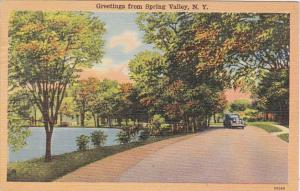 New York Greetings From Spring Valley 1950