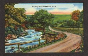 NH Greetings from GOSSVILLE NEW HAMPSHIRE PC Linen