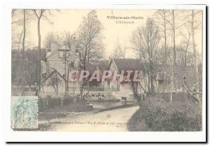 Villiers sur Morin Old Postcard L & # 39abreuvoir