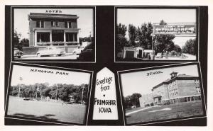 Only Primghar In The World~Nelle's Maytag Appliance Store~School~Hub RPPC 1940s