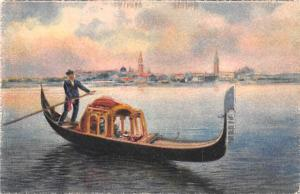 Italy Old Vintage Antique Post Card Gondola Venezia Unused