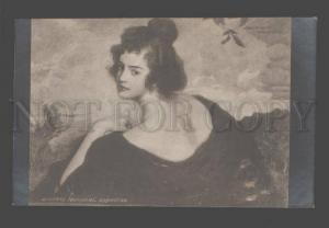 084771 Portrait of Pretty Woman by SCHUSTER-WOLDAM vintage PC