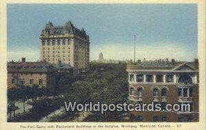 Fort Garry with Parliament Buildings Winnipeg, Manitoba Canada Unused