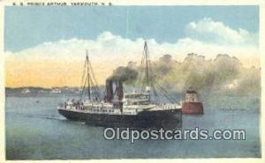The SS Prince Arthur, Yarmouth, Nova Scotia, NS Steam Ship Postcard Post Card...