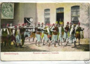 turkey, CONSTANTINOPLE, Volunteer FIRE BRIGADE (1906)