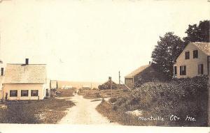 Montville Center Me Dirt Street View RPPC Postcard