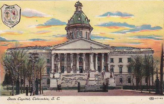 State Capitol (Glitter Detail), Columbia, South Carolina, 1900-1910s