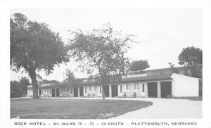 Plattsmouth Nebraska~Rock Motel~Eden Family B&W 1940s