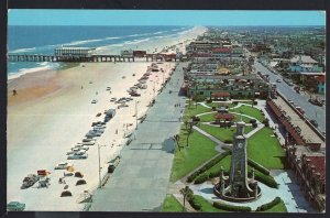 Florida ~ Aerial View of Beach at DAYTONA BEACH older cars - Chrome 1950s-1970s