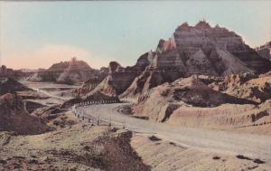 The Foot Of Cedar Pass The Badlands Nat Monument South Dakota Hand Colored Al...