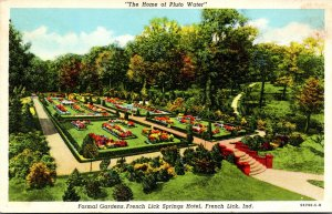 Indiana French Lick French Lick Springs Hotel Formal Gardens Curteich