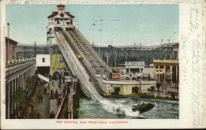 San Francisco CA Water Slide Chutes Amusement Park c1905 Postcard