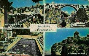 Algeria Constantine Swimming Pool Monument of the Dead Bridge Postcard