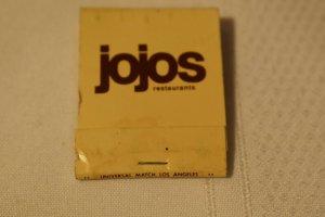 Jojos Restaurants 20 Strike Matchbook