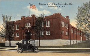 Huntington West Virginia~Biggs Armory~Fifth Avenue & 2nd Street~Vintage Car~1914