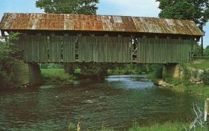 VT - Coventry. Covered Bridge over Black River