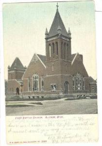 First Baptist Church, Allegan, Michigan, 1900-1910s