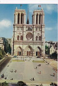 France Paris Facade de Notre-Dame