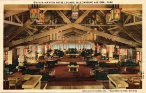 Wyoming Yellowstone National Park Canyon Hotel Lounge Curteich