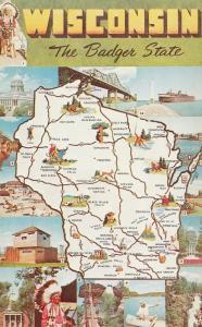 Map , Wisconsin , 50-60s #4