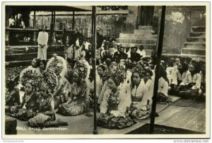 indonesia, BALI, Group of Beautiful Young Native Dancers (1920s) Postcard