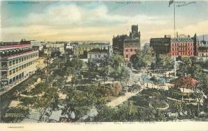 C-1905 The Plaza El Paso Texas Hand Colored International Postcard 2951
