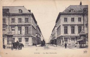 Horse Wagons, La Rue Nationale, Tours (Indre-et-Loire), France, 1900-1910s
