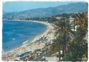 France, CANNES, La Plage du Midi, 1960s unused Postcard